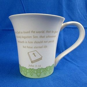 Bible Verse Coffee Mug For God So Loved Easter